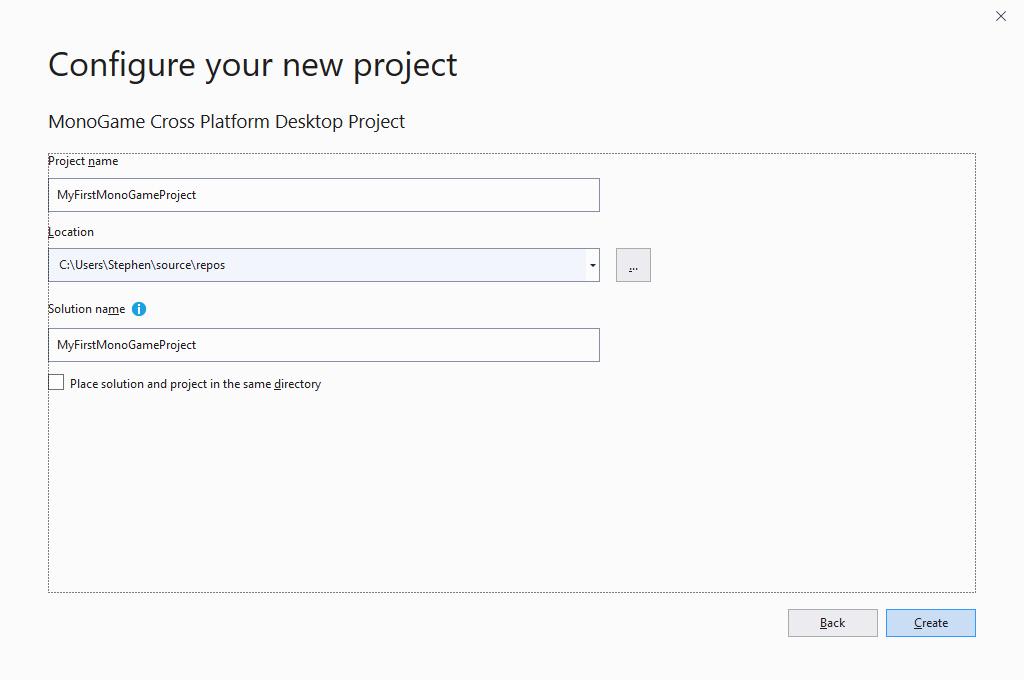 A screenshot of Visual Studio 2019.